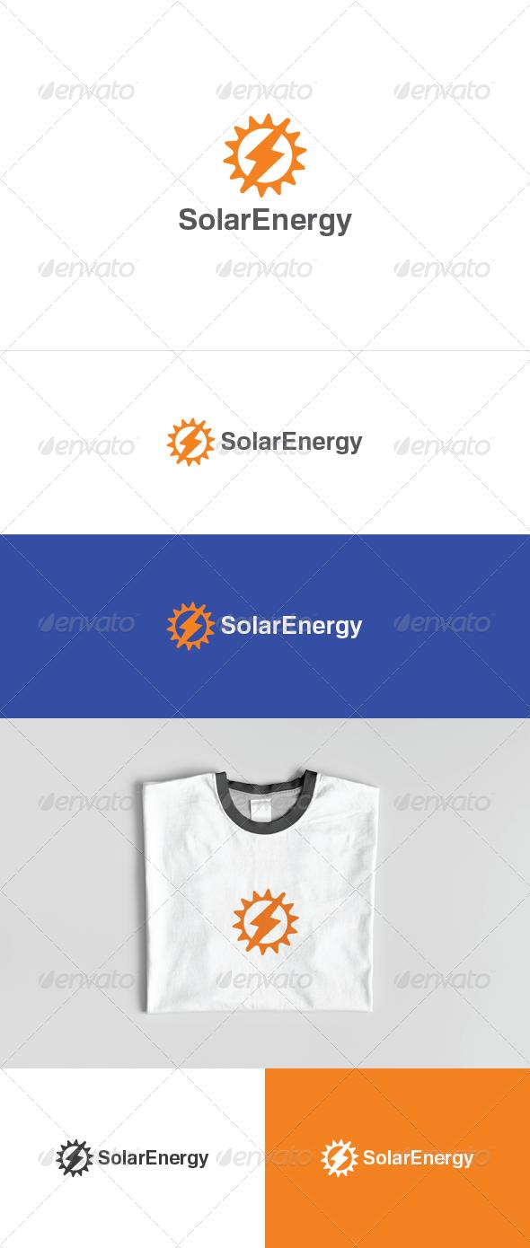 Solar Energy Logo - Vector Abstract