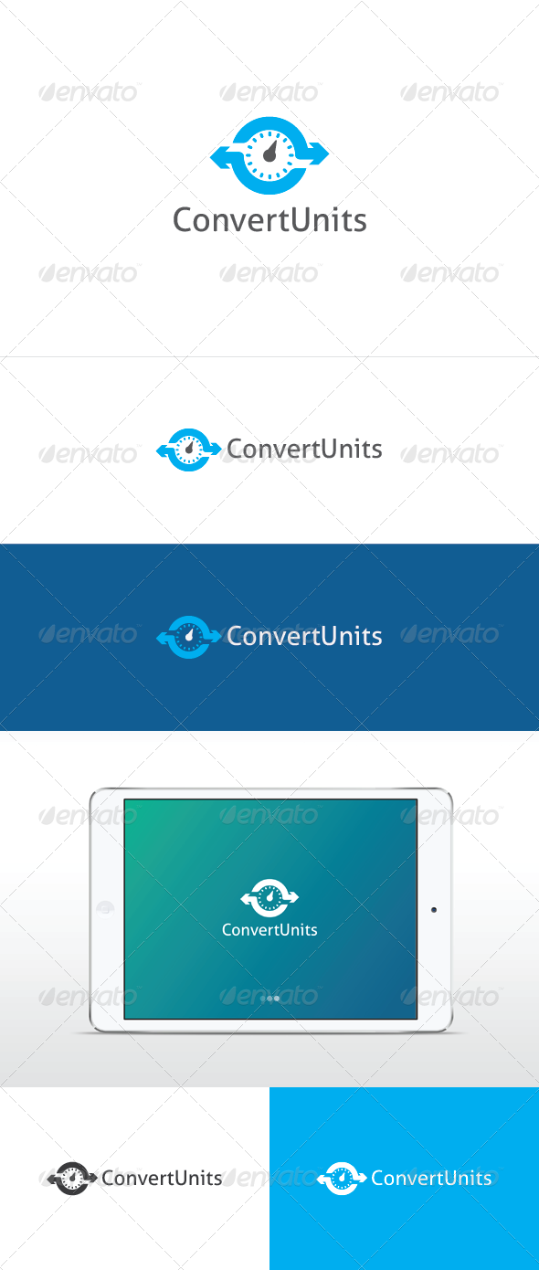 Convert Units Logo - Vector Abstract