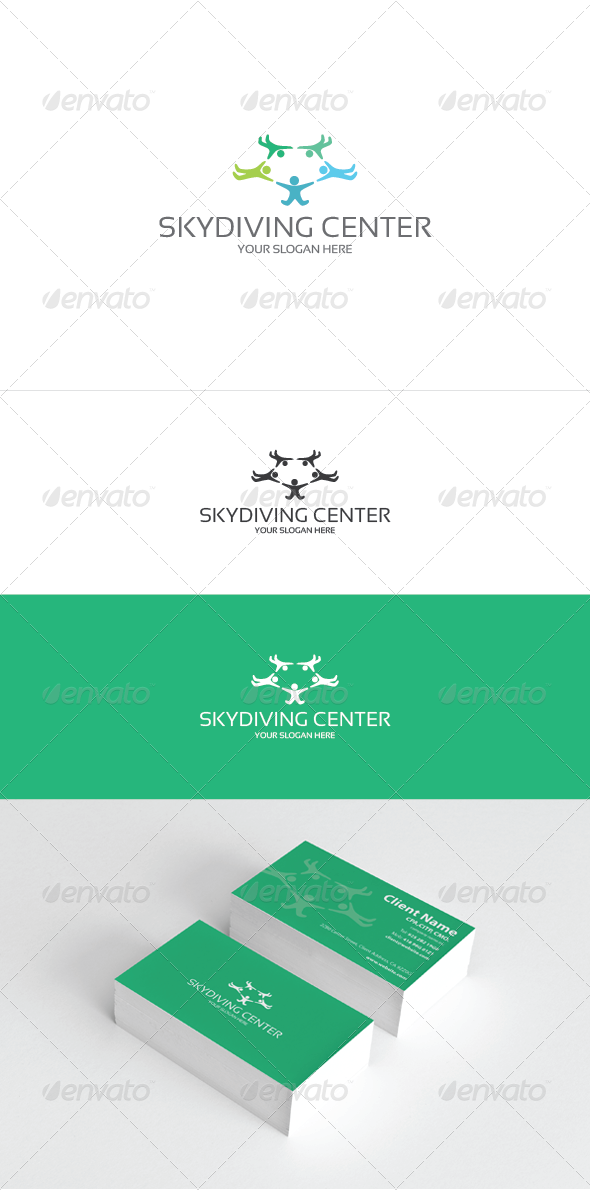 Skydiving Center - Symbols Logo Templates