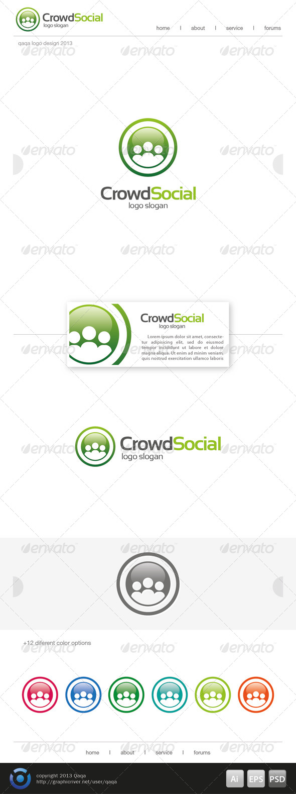 Crowd Social Logo - Humans Logo Templates