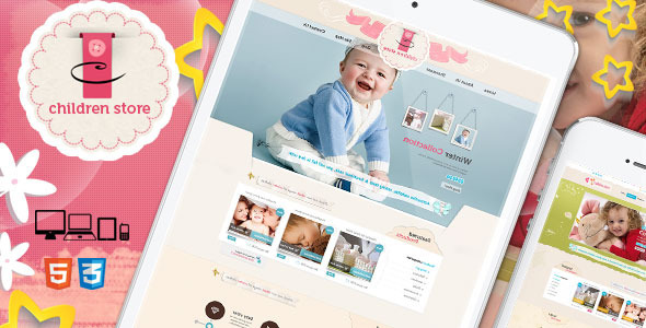 Image of Children Store Responsive Ecommerce HTML5 Theme