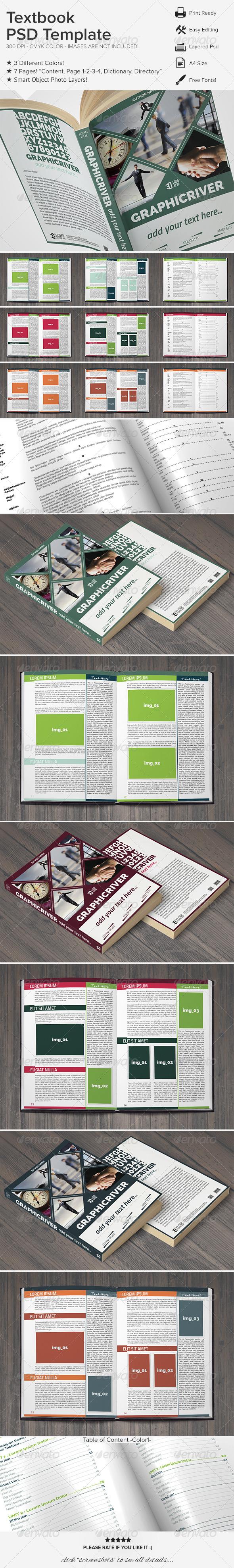 Textbook PSD Template - Miscellaneous Print Templates