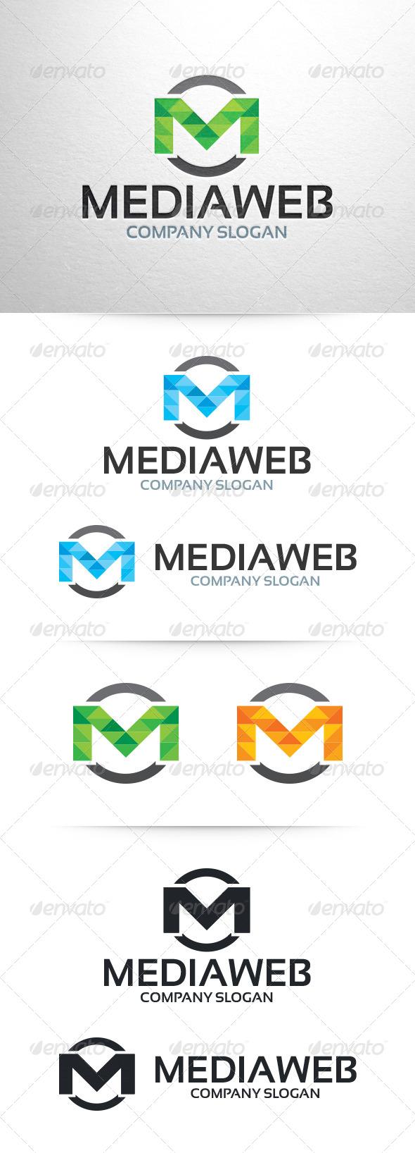 Media Web - Letter M Logo Template - Letters Logo Templates