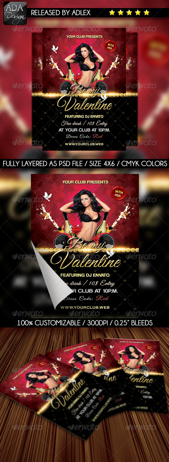 Be my Valentine - Valentine's Day Flyer - Holidays Events