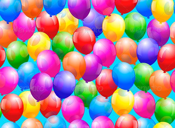 Balloon Seamless Wallpaper - Backgrounds Decorative