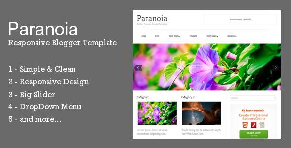 Paranoia - Responsive Blogger Template - Blogger Blogging