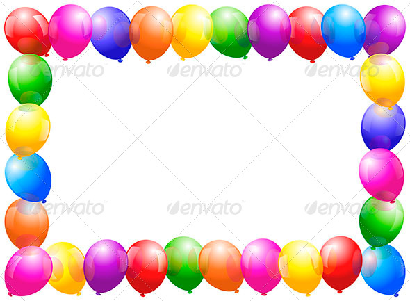 Balloons Frame - Backgrounds Decorative