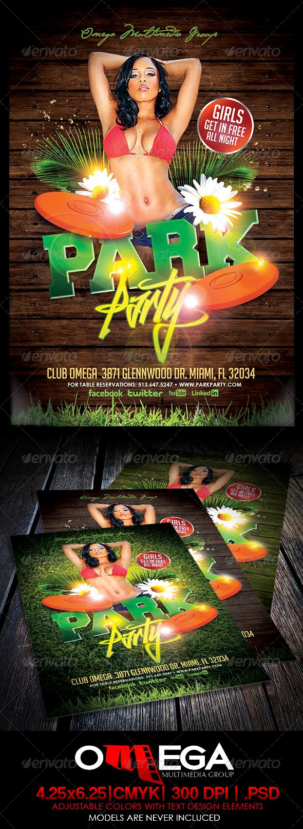 Park Party - Events Flyers