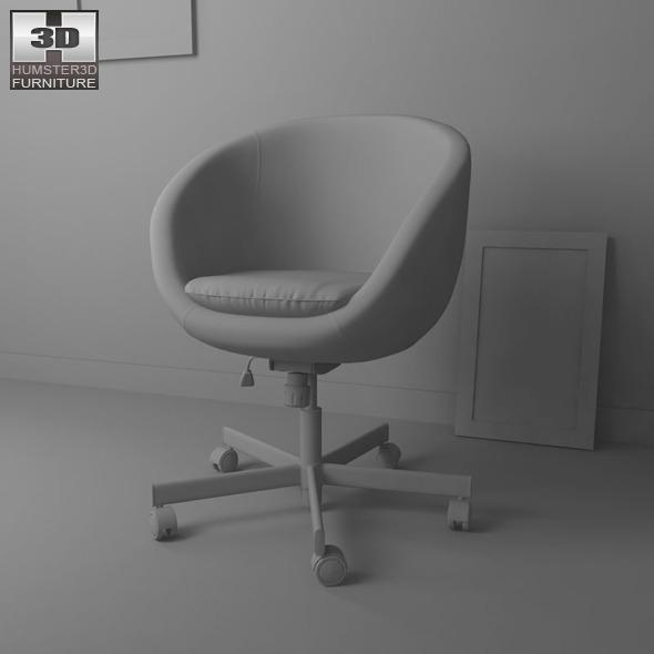 IKEA SKRUVSTA Swivel Chair   3D Model.