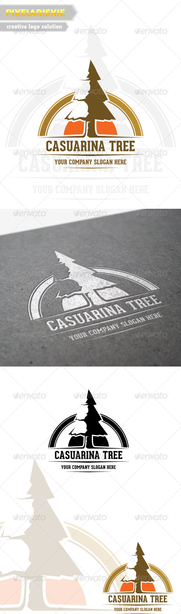 Casuarina Tree Logo - Nature Logo Templates