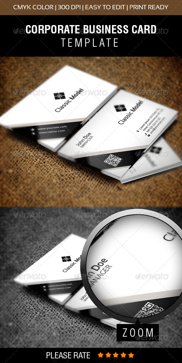 Classic Model Business Card - Corporate Business Cards