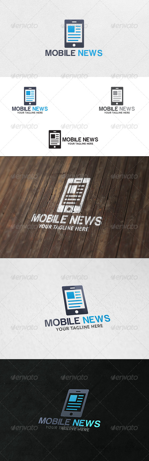 Mobile News - Logo Template - Vector Abstract