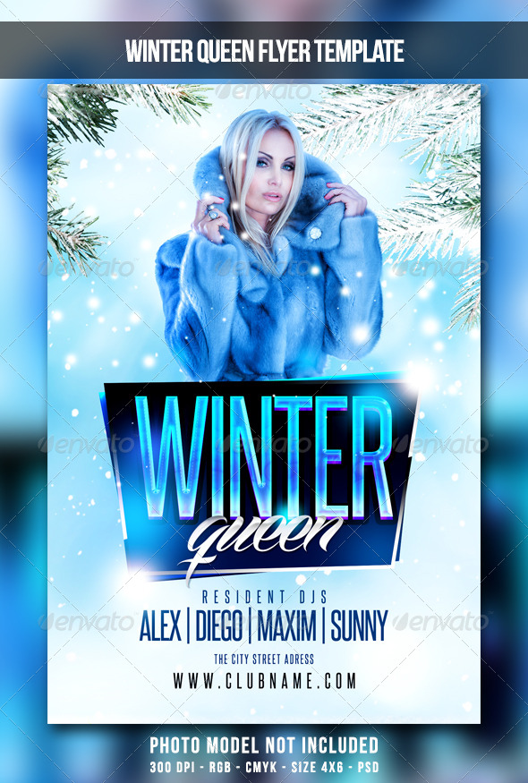 Winter Queen Flyer By Maksn Graphicriver