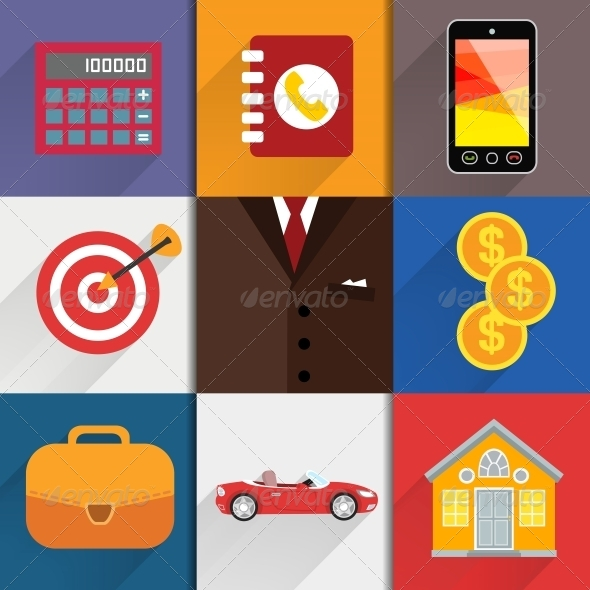 Web Design Elements with Accounting Icons - Web Elements Vectors