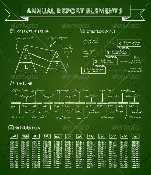 Chalkboard Infographics Elements - Web Elements Vectors