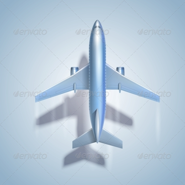 Flying Airplane Symbol - Travel Conceptual