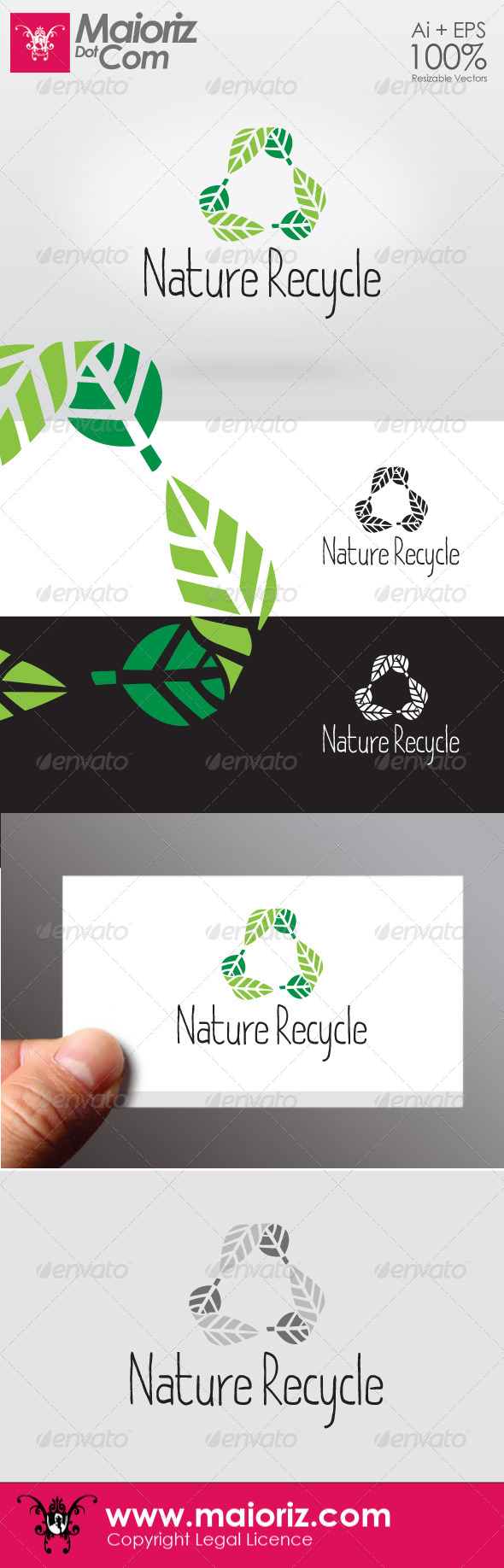 Nature Recycle Logotype - Nature Logo Templates