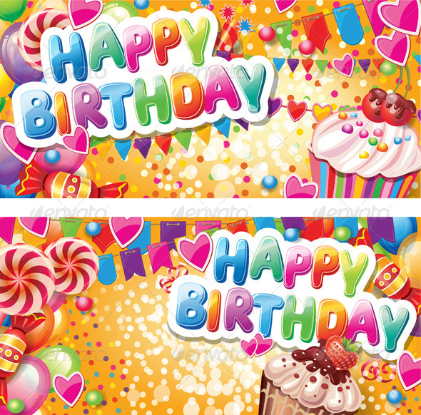 Happy Birthday Vertical Cards - Birthdays Seasons/Holidays