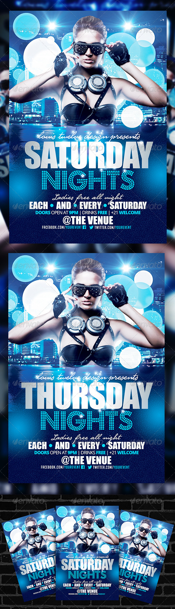 Saturday Nights Flyer Template - Clubs & Parties Events