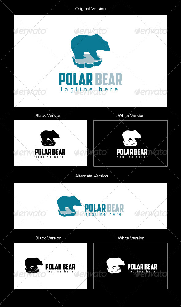 Polar Bear Logo Design - Animals Logo Templates