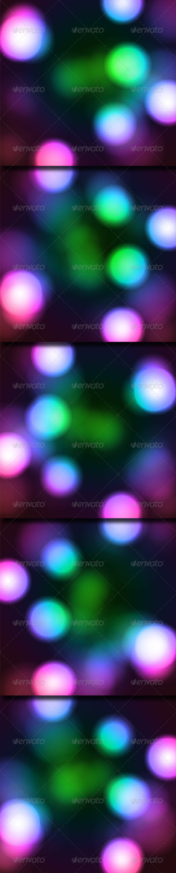 Glowing Colored Spots - Abstract Backgrounds