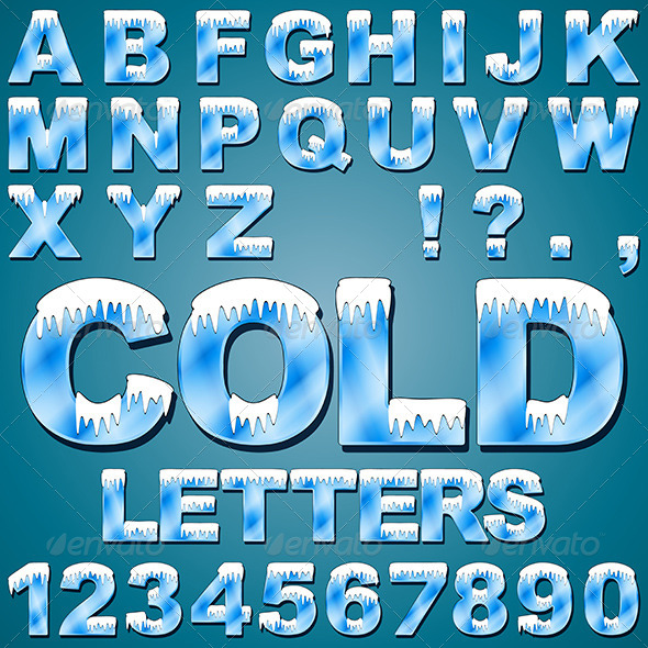 Ice Cold Letters - Miscellaneous Vectors