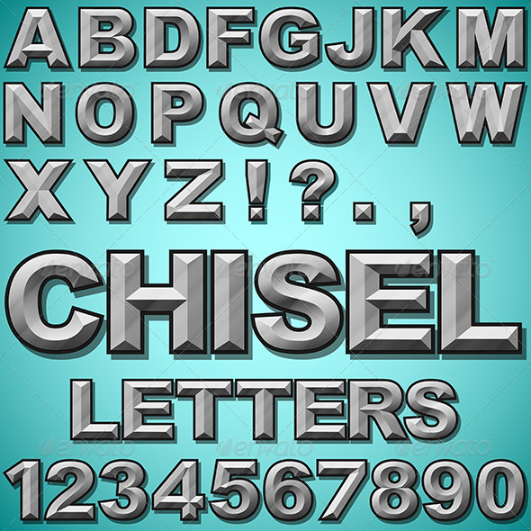 Chiseled Letters - Miscellaneous Vectors