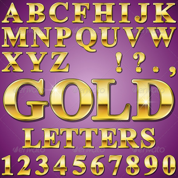 Gold Letters - Miscellaneous Vectors