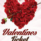 Valentines Day Ticket - GraphicRiver Item for Sale