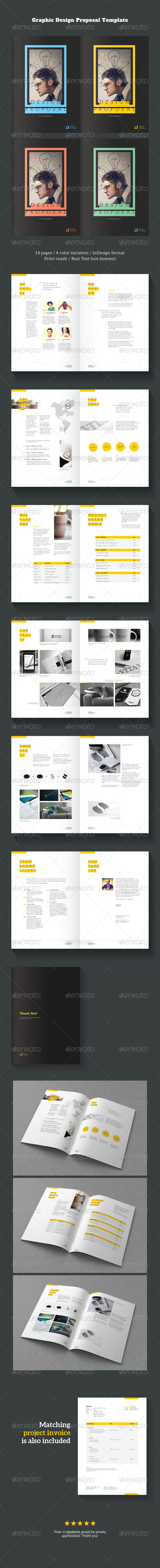 graphic design project proposal template proposals invoices stationery