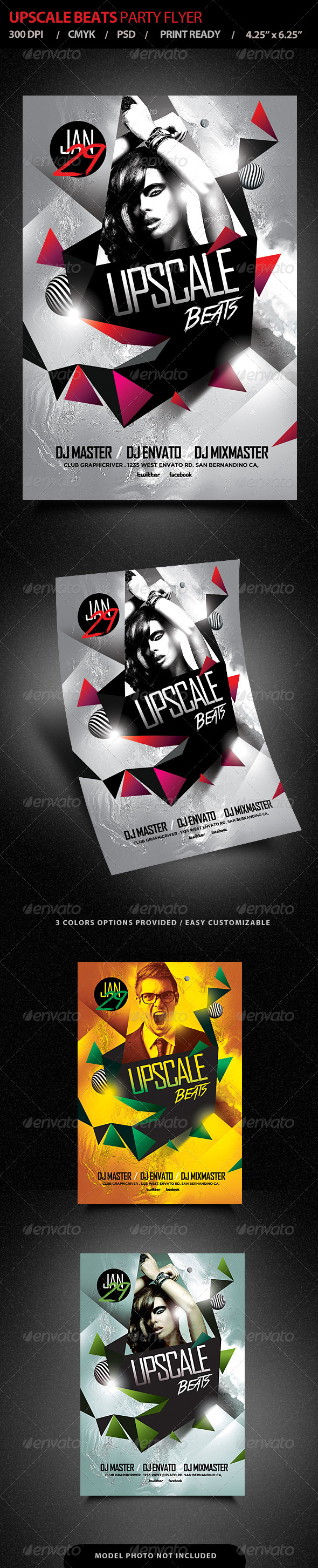 Upscale Beats Club Party Flyer - Events Flyers