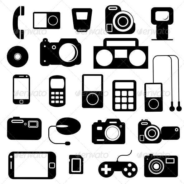 Icon with Electronic Gadgets - Halloween Seasons/Holidays