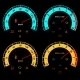 Set of Car Speedometers for Racing Design - GraphicRiver Item for Sale