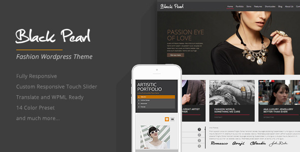 Black Pearl – Responsive Fashion WordPress Theme
