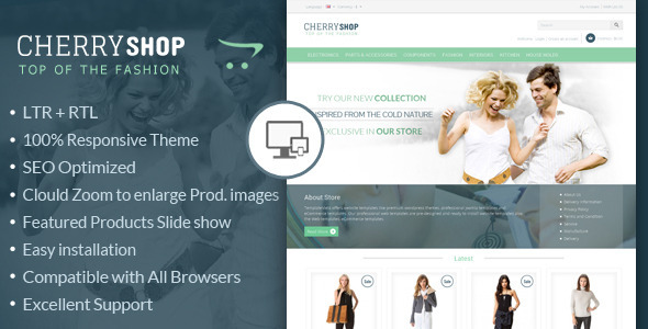 Cherry Shop - Responsive OpenCart Template