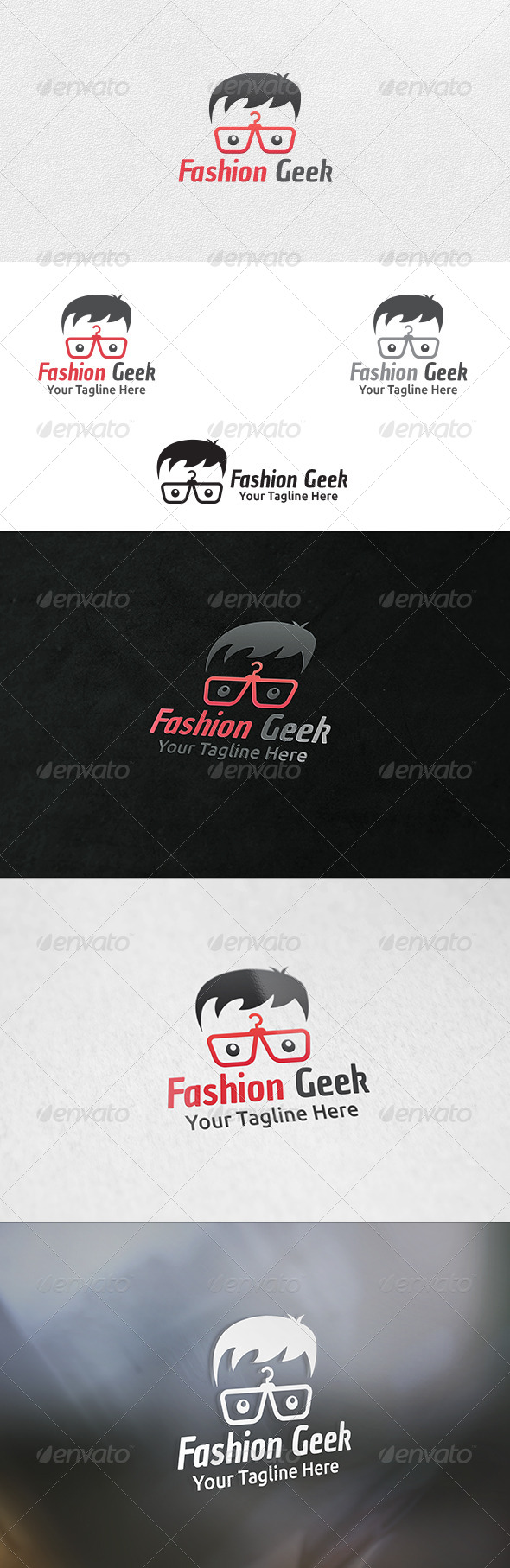 Fashion Geek - Logo Template - Humans Logo Templates