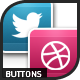 Bright Social Buttons Pack