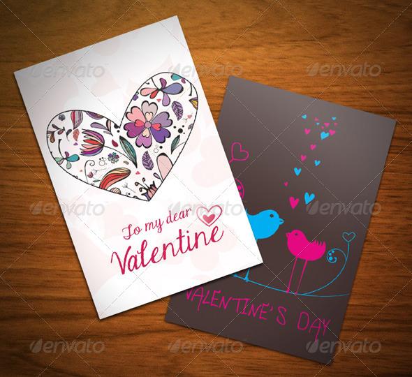 Valentine Card - Cards & Invites Print Templates