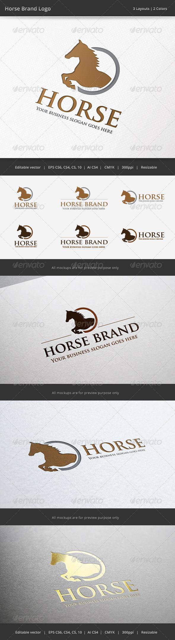Horse Brand Logo - Animals Logo Templates