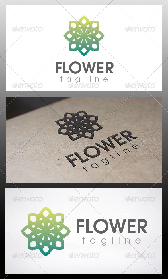 Flower Logo - Vector Abstract