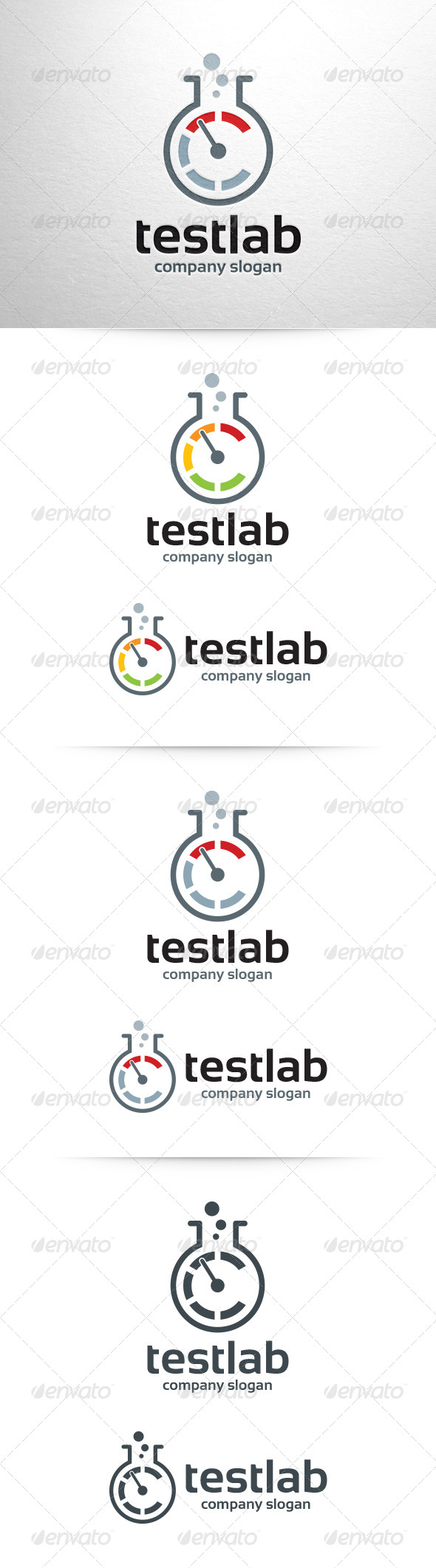Test Lab Logo Template - Symbols Logo Templates