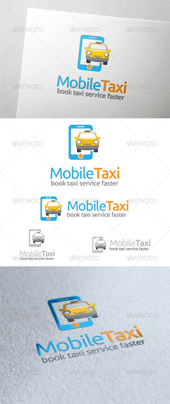 Mobile Taxi Logo - Objects Logo Templates