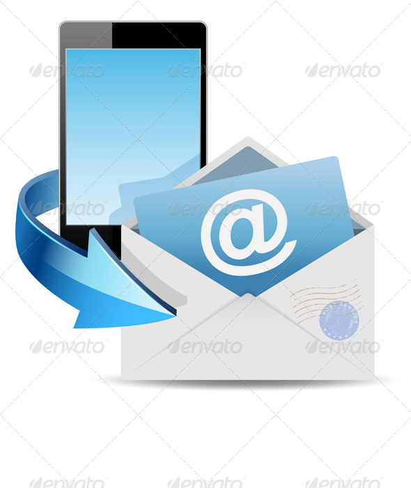 Envelope Email and Phone - Technology Conceptual