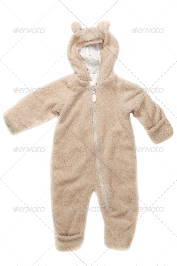 Fluffy jumper with hood and ears - Stock Photo - Images