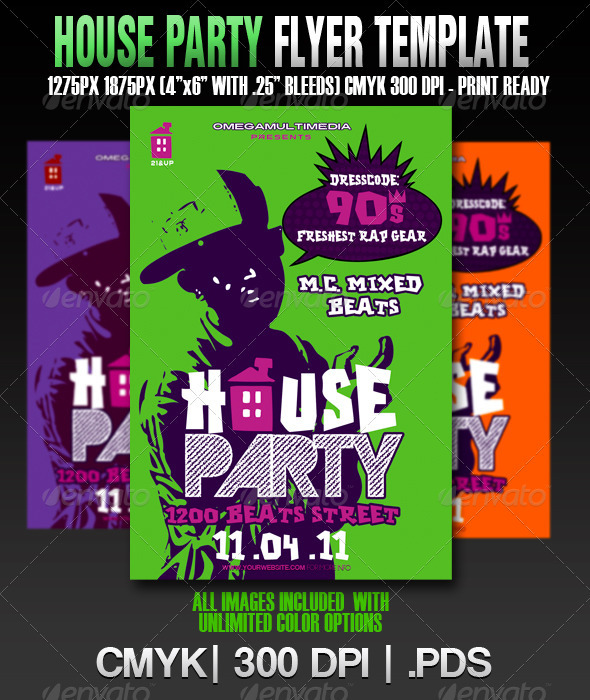 The House Party Template By Omegamultimedia Graphicriver