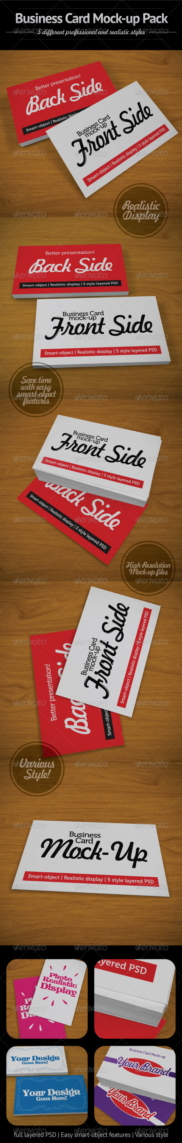 Business Card Mock-Up Pack - Business Cards Print