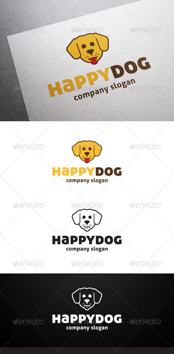 Happy Dog Logo - Animals Logo Templates