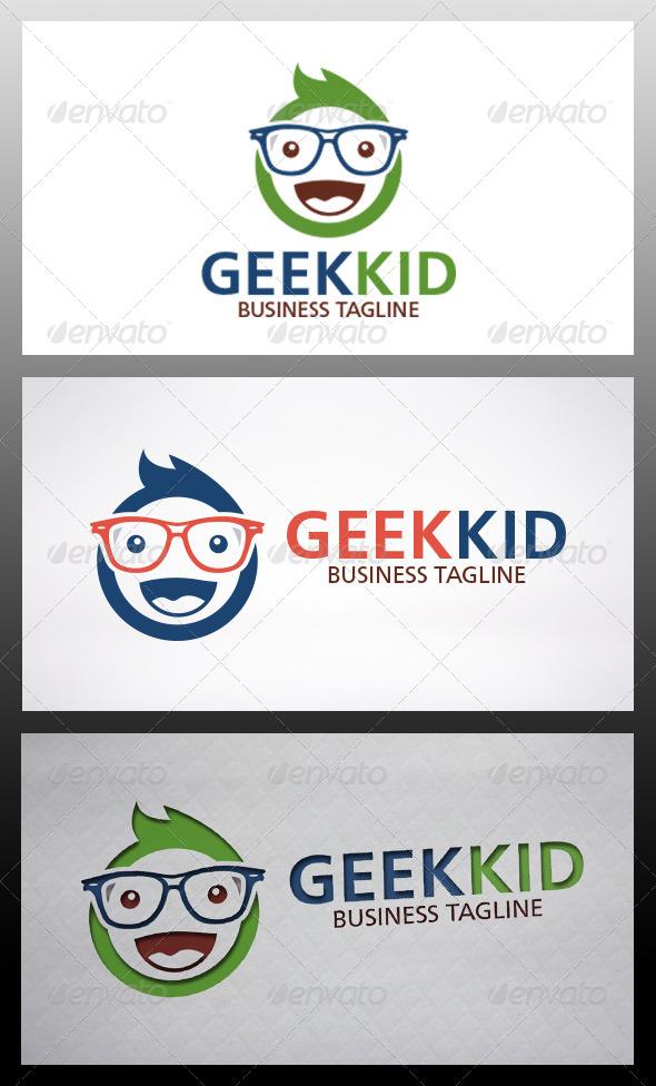 Geek Kid Logo - Humans Logo Templates