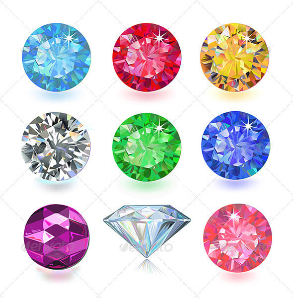 Colored Gems - Decorative Symbols Decorative
