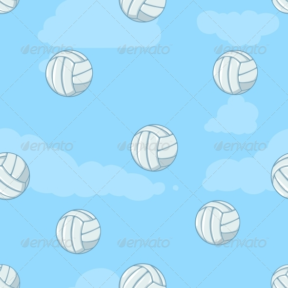 Seamless Pattern of Volleyballs - Sports/Activity Conceptual